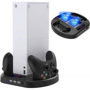 Vertical Stand with Cooling Fan for Xbox Series S Game Console